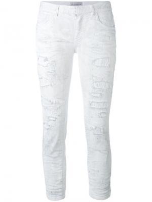 Укороченные джинсы Faith Connexion. Цвет: белый