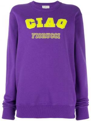 Толстовка Ciao Fiorucci. Цвет: фиолетовый
