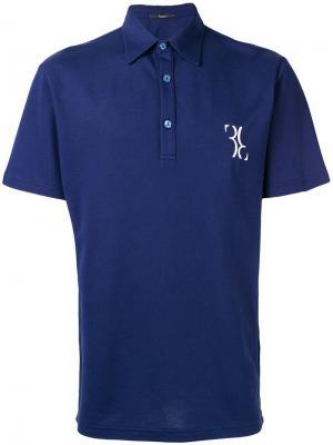 Рубашка-поло Stoke Billionaire. Цвет: синий