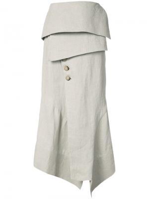 Асимметричная юбка  x Tarsila Osklen. Цвет: нейтральные цвета