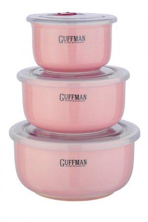 Набор контейнеров Guffman. Цвет: бордовый