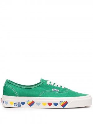 Кеды 44 DX Vans. Цвет: зеленый