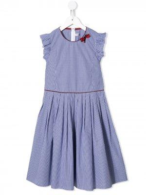 Платье в клетку гингем Familiar. Цвет: синий