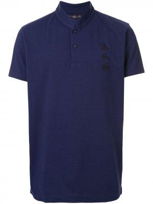 Рубашка-поло Xu Bing с воротником-стойкой Shanghai Tang. Цвет: синий