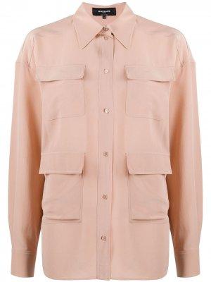 Рубашка с карманами Rochas. Цвет: розовый