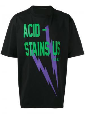 Футболка Acid Stains Haider Ackermann. Цвет: черный