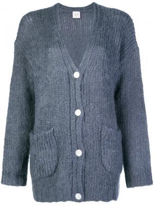 Mid-length cardigan Alysi. Цвет: синий