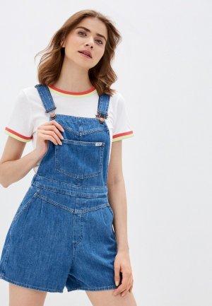 Комбинезон джинсовый Wrangler. Цвет: синий