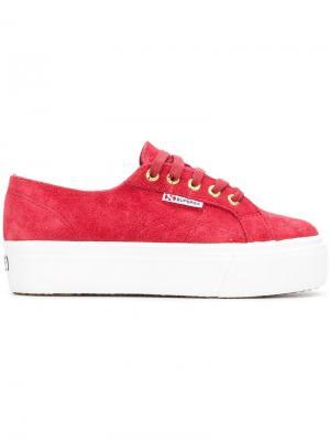 2790 platform sneakers Superga. Цвет: красный
