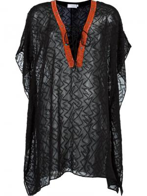 Прозрачное пляжное платье Brigitte. Цвет: черный