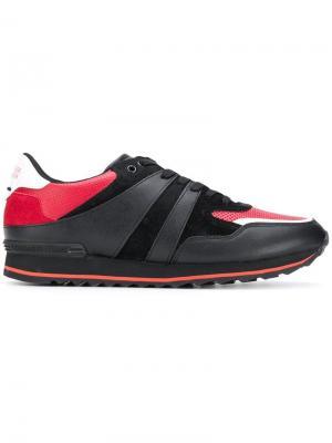Кроссовки на шнуровке Trussardi Jeans. Цвет: черный