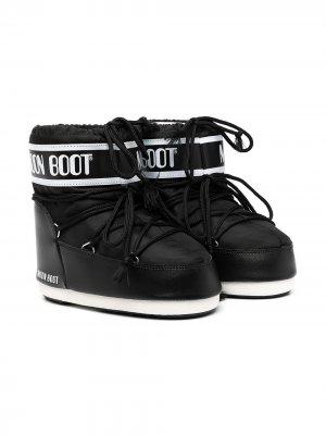 Сапоги луноходы Classic Low 2 Moon Boot Kids. Цвет: черный