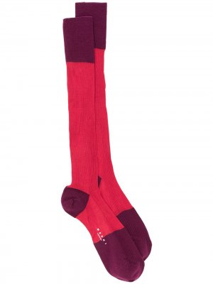 Двухцветные носки Marni. Цвет: красный