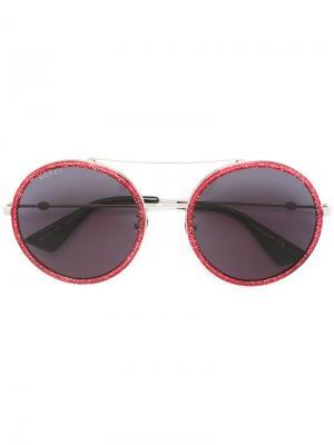 Солнцезащитные очки-авиаторы Gucci Eyewear. Цвет: розовый