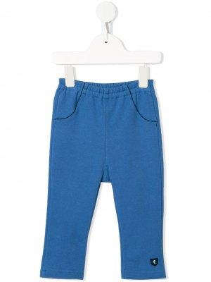 Легинсы с вышивкой и эластичным поясом Familiar. Цвет: синий