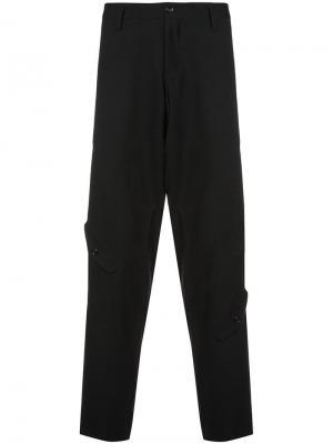 Суженные книзу брюки карго Yohji Yamamoto. Цвет: черный