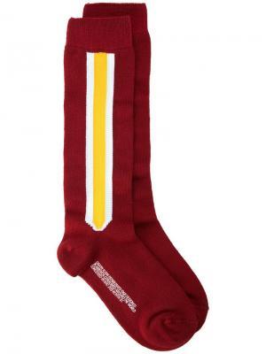 Носки с боковыми полосками Calvin Klein 205W39nyc. Цвет: красный