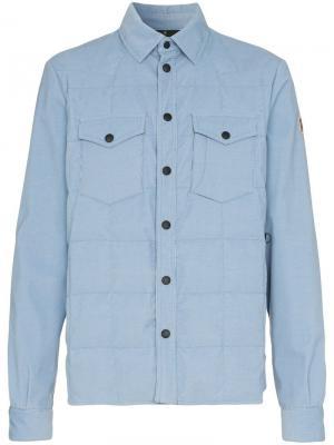Утепленная куртка-рубашка Moncler Grenoble. Цвет: синий