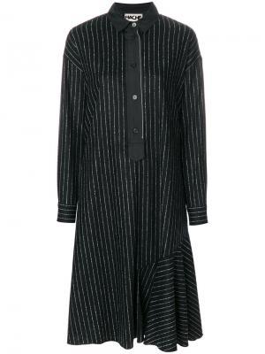Платье-рубашка в полоску Hache. Цвет: чёрный
