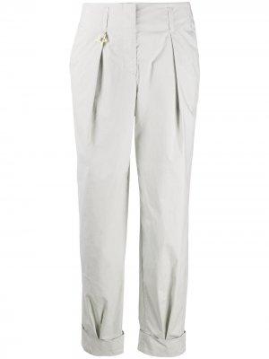 Прямые брюки с завышенной талией Lorena Antoniazzi. Цвет: серый