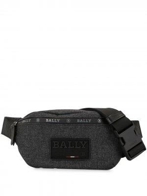 Поясная сумка с нашивкой-логотипом Bally. Цвет: серый