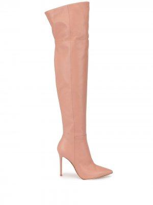 Ботфорты с заостренным носком Gianvito Rossi. Цвет: розовый