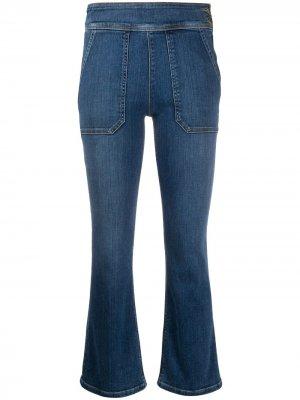 Укороченные джинсы Le Francoise средней посадки FRAME. Цвет: синий