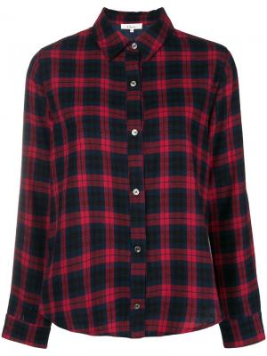 Рубашка в клетку Clu. Цвет: красный