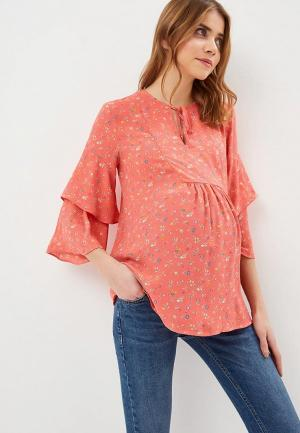 Блуза Gap Maternity. Цвет: коралловый