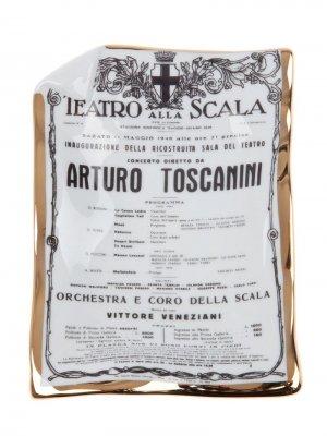 Пепельница Toscanini Fornasetti. Цвет: белый