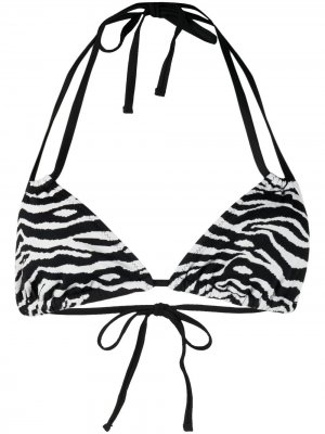 Лиф бикини Tenley с зебровым принтом Solid & Striped. Цвет: белый