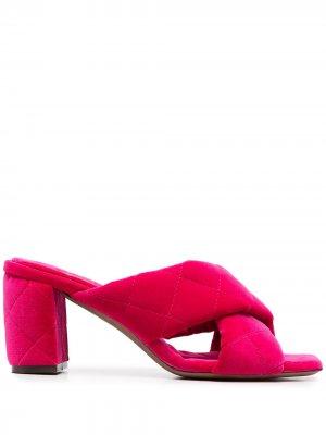 LAutre Chose стеганые босоножки на блочном каблуке L'Autre. Цвет: розовый