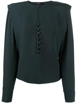 Блузка с объемными плечами Isabel Marant. Цвет: зеленый