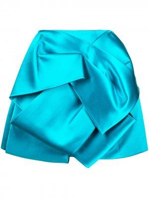 Юбка Duchess со складками Dice Kayek. Цвет: синий