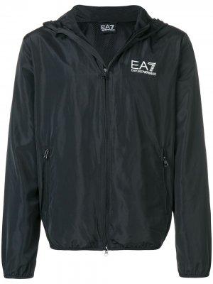 Классическая спортивная куртка Ea7 Emporio Armani. Цвет: черный