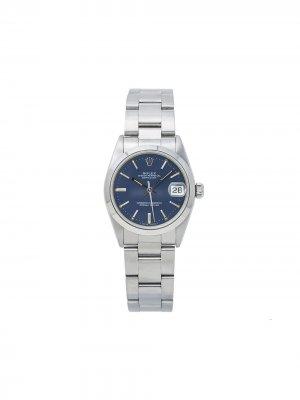 Наручные часы Datejust pre-owned 31 мм 1980-х Rolex. Цвет: синий