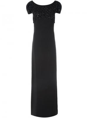 Декорированное вечернее платье Antonio Berardi. Цвет: чёрный