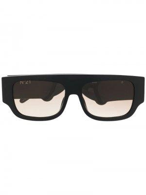 Солнцезащитные очки в толстой оправе Nº21. Цвет: черный