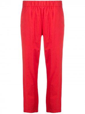Укороченные брюки скинни с завышенной талией Erika Cavallini. Цвет: оранжевый