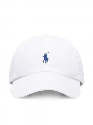 Бейсболка с вышитым логотипом Polo Ralph Lauren. Цвет: белый