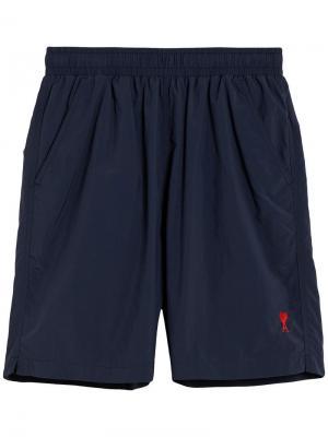 Длинные пляжные шорты Ami de Coeur Alexandre Mattiussi. Цвет: синий