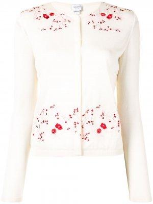 Кардиган с цветочной вышивкой Giambattista Valli. Цвет: нейтральные цвета