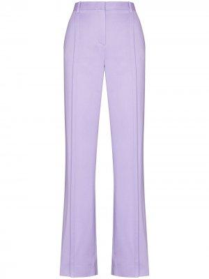 Прямые брюки с завышенной талией Versace. Цвет: фиолетовый