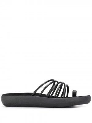 Сандалии Hypatia с ремешками Ancient Greek Sandals. Цвет: черный