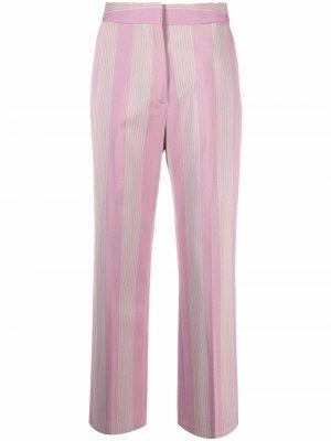 Укороченные брюки Crest в полоску Tommy Hilfiger. Цвет: розовый