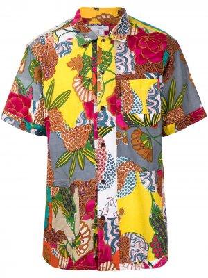 Рубашка с принтом в технике пэчворк Engineered Garments. Цвет: разноцветный