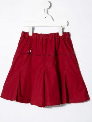 Расклешенные шорты Familiar. Цвет: красный