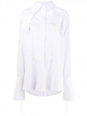 Рубашка с удлиненными рукавами Ann Demeulemeester. Цвет: белый