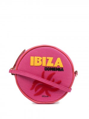 Круглая сумка на плечо Ibiza Olympia Le-Tan. Цвет: розовый