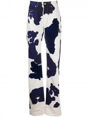 Прямые джинсы с принтом Off-White. Цвет: белый